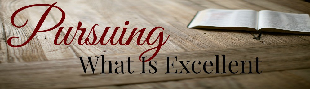 Pursuing What Is Excellent